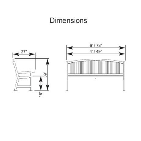 dimensions of bench park bench dimensions treenovation