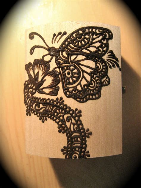 henna tattoo with butterfly butterfly inspired wooden henna jewelry box by sara s