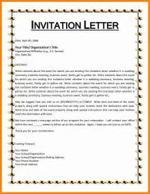 template for invitation letter for an event 7 event invitation format resumes great