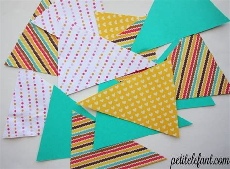 Make A Paper Banner - how to paper flag bunting 183 how to make bunting