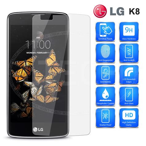 Tempered Glass Lg K8 Murah Lg K8 K350 Clear Tempered Glass Screen Protector