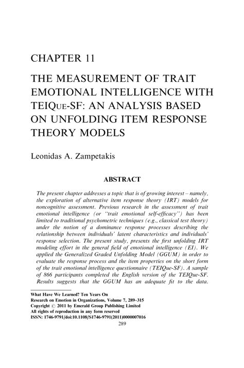 how to analyze how to analyze and emotional intelligence and cognitive behavioral and stoicism and empath books the measurement of trait emotional intelligence with
