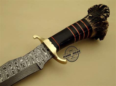 Handmade Daggers - damascus dagger knife custom handmade damascus steel