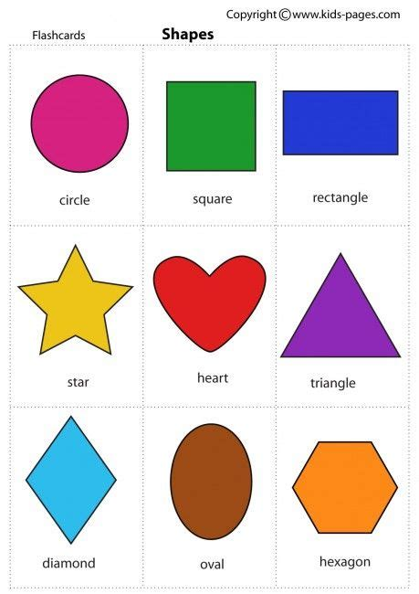 Free Printable Shapes With Names | number names worksheets 187 printable shapes chart free
