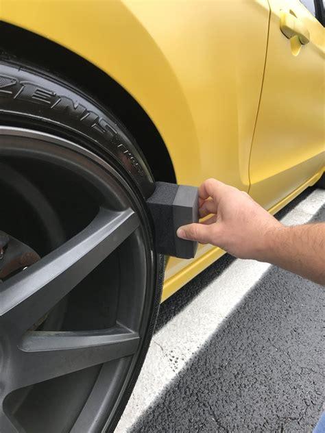 tire dressing applicator easily apply tire shine  dressing   shine honest wash car care