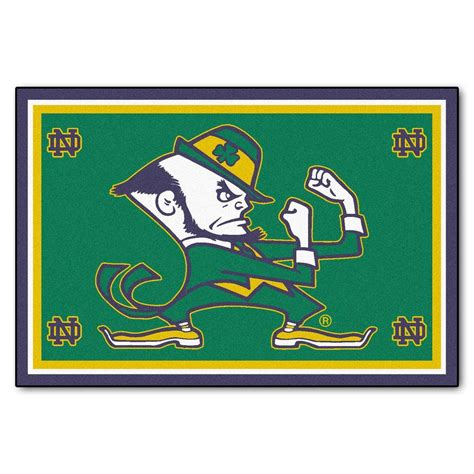 Notre Dame Area Rug Fanmats Notre Dame 5 Ft X 8 Ft Area Rug 6274 The Home Depot