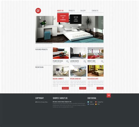 responsive website templates for quiz interior design responsive website template 40659