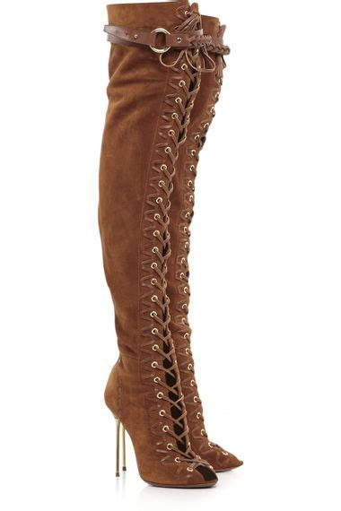 emilio pucci lace up suede thigh high boots