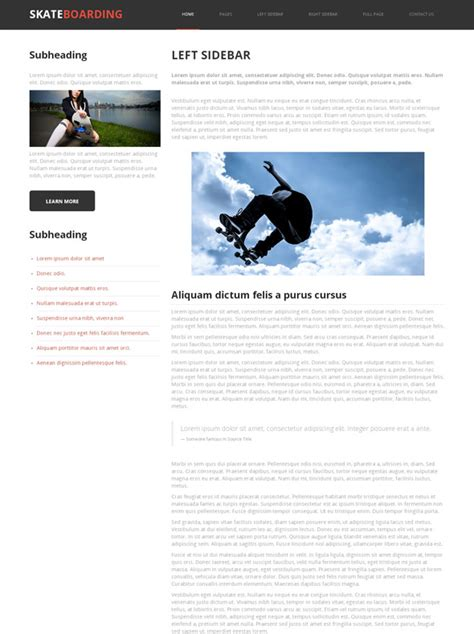 Skateboarding Competition Web Template Skateboarding Sports Dreamtemplate Competition Website Template