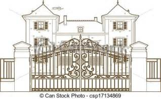 Victorian House Blueprints by Clip Art Vector Of Design Behind The Castle Gate Vector