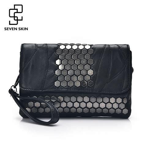Clutch Fashion 732 seven skin brand messenger bags genuine leather handbag fashion designer high