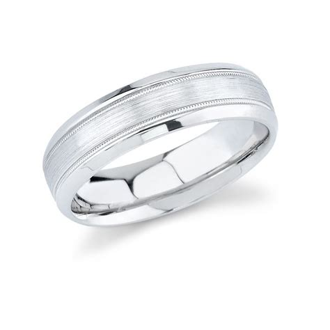 mens gold comfort fit wedding bands 14k white gold mens wedding band comfort fit