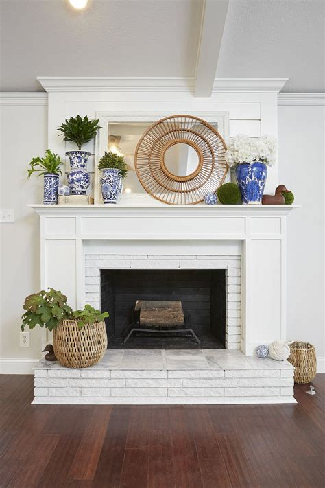 shiplap over brick beautiful shiplap and wood fireplace mantle over painted