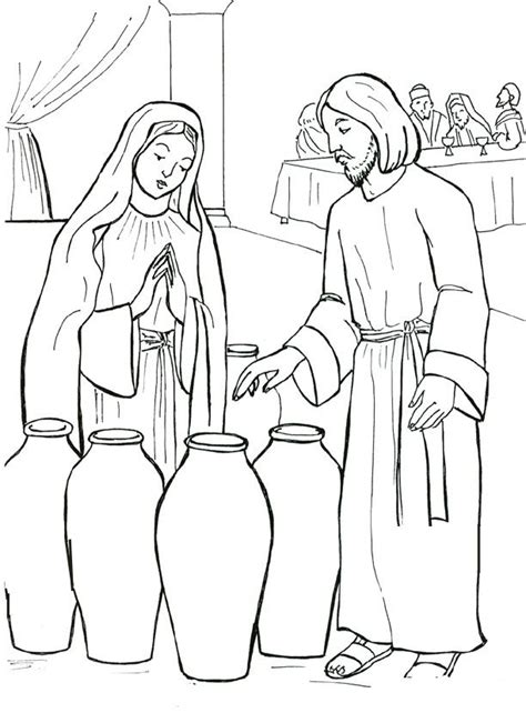 coloring pages of jesus ministry 1000 images about the wedding feast at cana on pinterest