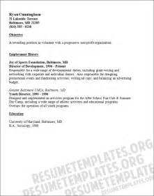 resume format resume template volunteer