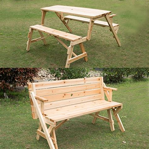 convertible garden bench to picnic table awardpedia convertible wood picnic table and garden bench
