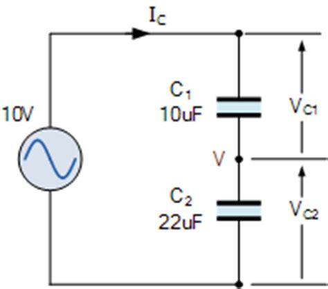 capacitor divider dc capacitive voltage divider as an ac voltage divider