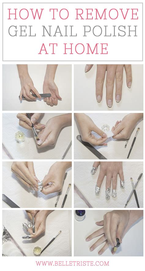 how to remove gel nail at home the thesis