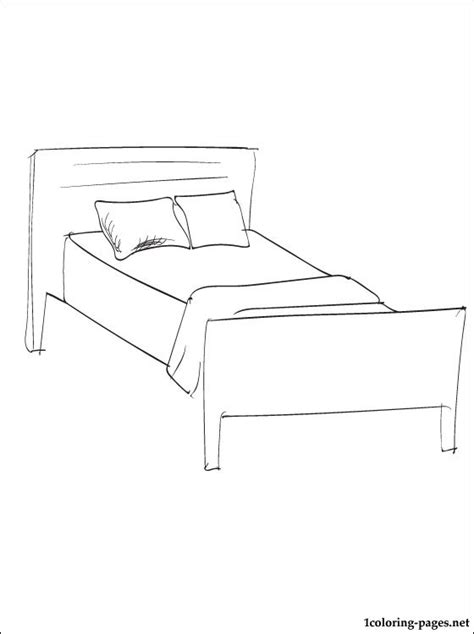 bed coloring page free coloring pages of cat on a bed
