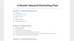 6 Month Marketing Plan Template by 6 Month Inbound Marketing Plan Chris Steurer