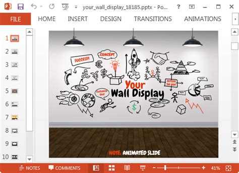 free doodle powerpoint templates your wall display animated powerpoint template