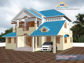 Beautiful home elevation design in 3d kerala home design and floor plans