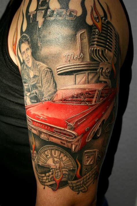 rockabilly tattoos for men elvis rockabilly elvis tattoos