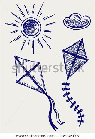 doodle kites meaning kites in the sky doodle style ilustra 231 227 o vetor stock