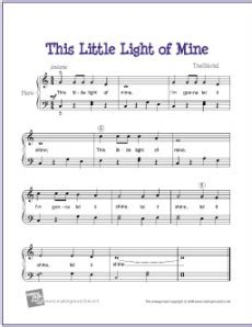 This Light Of Mine Lyrics by Easy Sheet Muisc Favorite Freebies