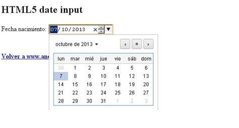 pattern html5 input date date input html5 un sencillo datepicker para tu formulario