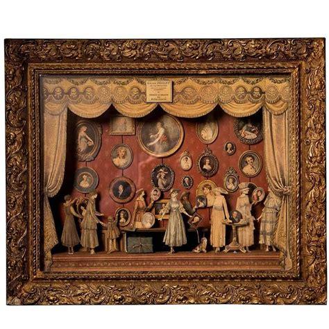 gallerie pellet french diorama  ornate gilt