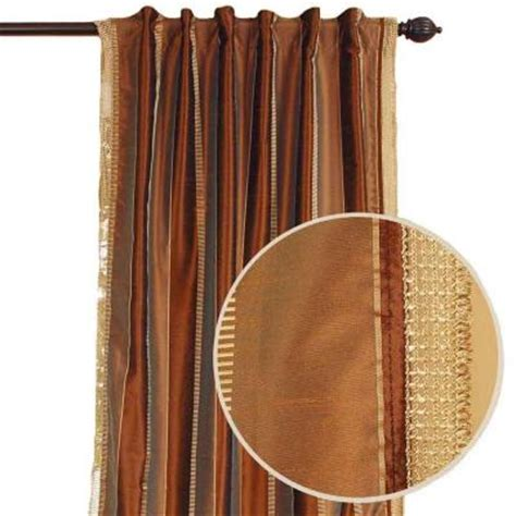 Earth Tone Curtains Home Decorators Collection Roshni Earth Tone Back Tab Curtain 91187 The Home Depot