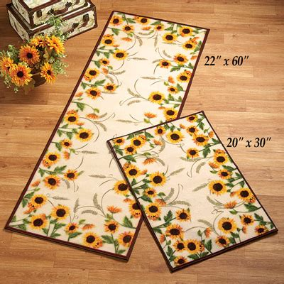 Fall Kitchen Rugs by Autumn Inspired Sunflower Harvest Rug From Collections Etc