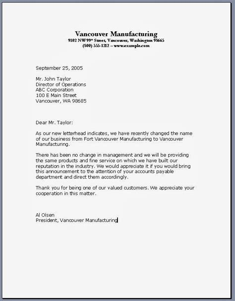 Generic Business Letter Closing Free Printable Business Letter Template Form Generic