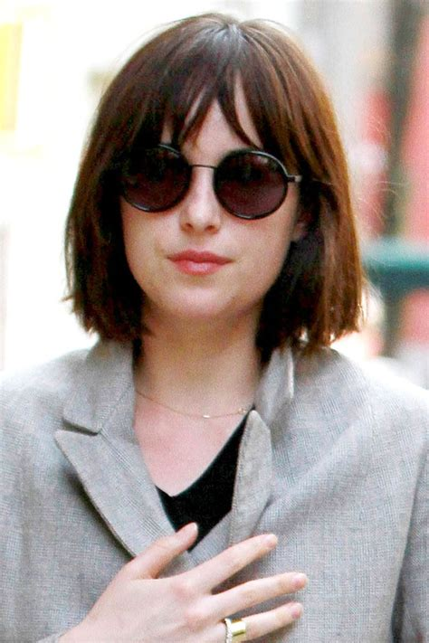 dakota johnson hairstyles and face shape 86 best heart shape face hairstyle images on pinterest