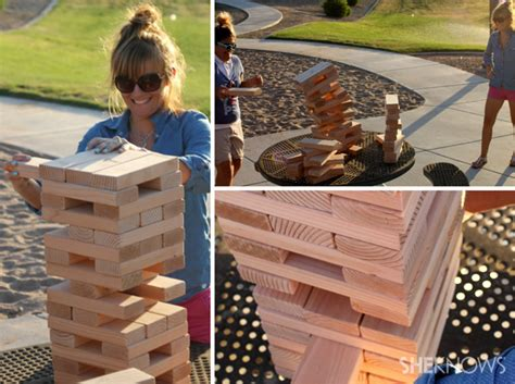 backyard jenga game human sized jenga images