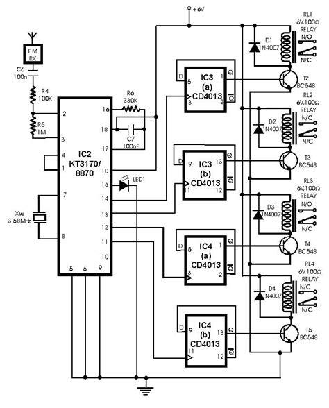 radio remote circuit diagram radio remote using dtmf