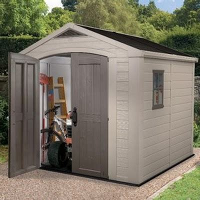 Keter Plastic Shed 8x8 by Keter Factor Plastic Garden Shed 8x8