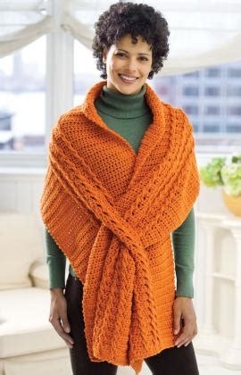 red heart pattern wr1811 wrap with slits crochet pattern red heart