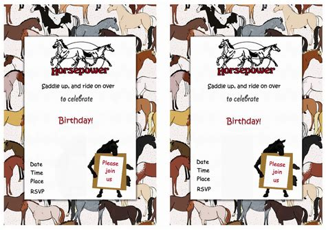 free printable horse birthday party invitations drevio horse birthday invitations birthday printable