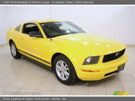 2005 ford mustang yellow screaming yellow 2005 ford mustang v6 deluxe coupe
