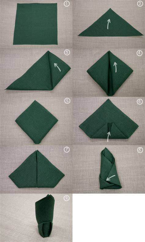 How To Make Napkin Origami - napkin folding this is the pyramid fold my napkin