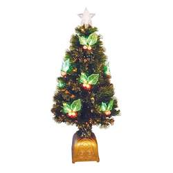 4 ft pre lit led color changing fiber optic christmas tree
