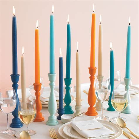 Hairstyle Tapered Candles by Colorful Candle Holders How To Martha Stewart Weddings