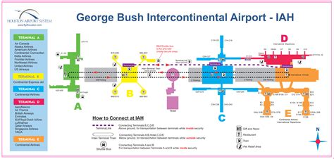 map of george bush intercontinental airport houston texas houston airport iah map houston tx airport mappery