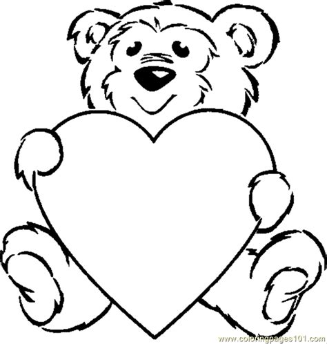 teddy bear with rose coloring page coloring pages b teddy animals gt bear free printable
