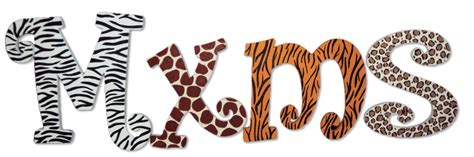 animal pattern font animal print custom painted letters