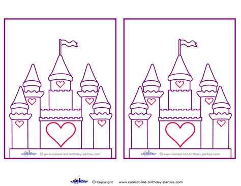 printable castle template blank printable castle invitations coolest free printables