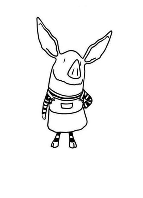nick jr olivia coloring pages pig olivia para colorear pintar e imprimir