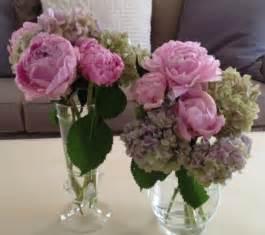 Peony Wedding Flower Arrangements - pink peony with hydrangeas wedding flower arrangements